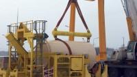 На ХОЯТ-2 проходит подготовка к испытаниям внутриплощадочного транспортного контейнера HI-TRAC-H